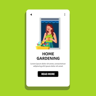 Home giardinaggio davanzale della finestra cura delle piante hobby