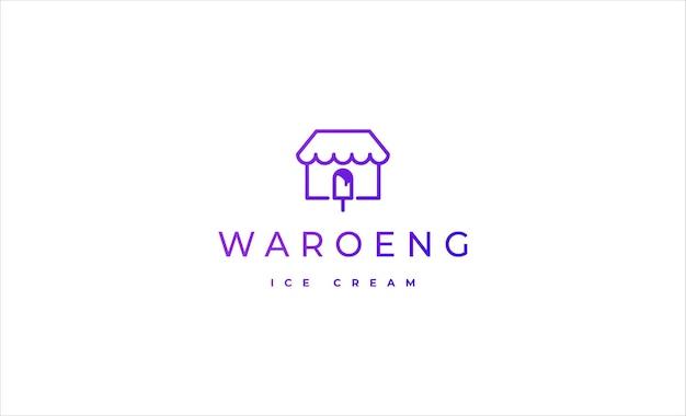 Illustrazione del design del logo della gelateria domestica