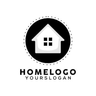 Vettore di progettazione del logo dell'illustrazione domestica