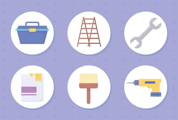 Strumenti per il miglioramento della casa e la creazione di oggetti