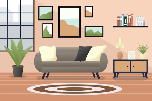 Sfondo interno casa per videoconferenze