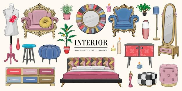 Set di elementi interni casa