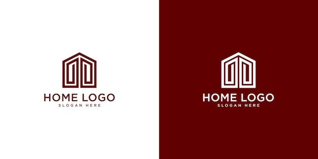 Modello di progettazione di logo di casa