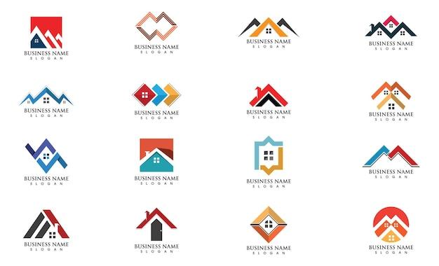 Home logo progettazione del logo immobiliare, immobiliare e delle costruzioni