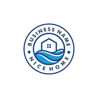Modello di logo di casa
