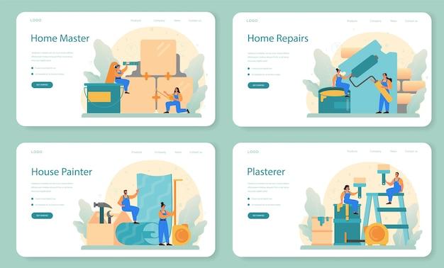 Banner web home master o set di pagine di destinazione