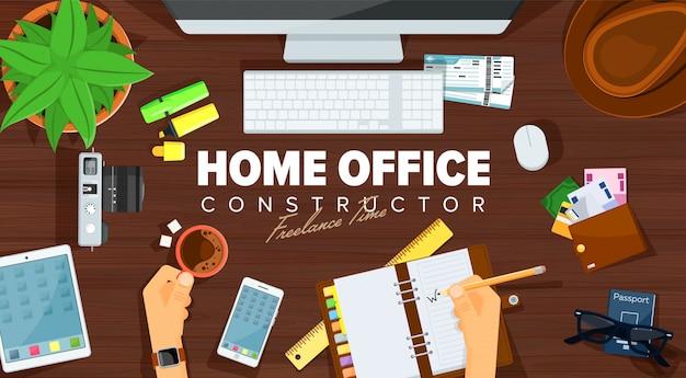 Modello di home office