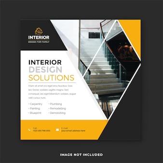 Modelli di post di instagram per l'interior design di casa e ufficio
