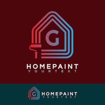 Home paint iniziale lettera g logo design