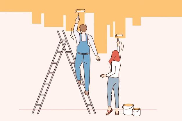 Concetto di ristrutturazione e riparazione della casa