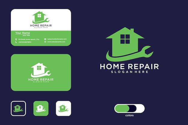 Logo e biglietto da visita per la riparazione della casa