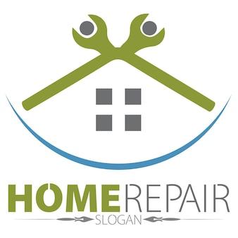 Logo di riparazione domestica