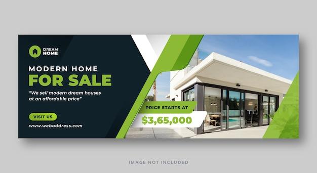 Casa in vendita banner web copertina facebook