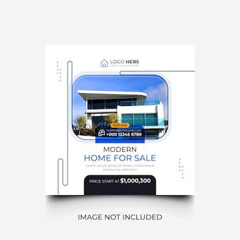 Casa in vendita modello di social media minimalista