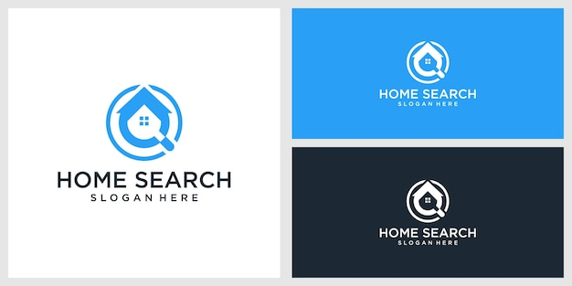 Modello di progettazione del logo di ricerca domestica