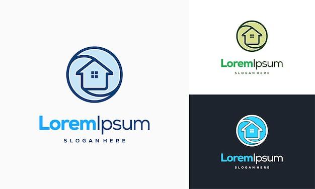 Il logo dei servizi per la casa progetta il vettore del concetto, il modello del logo della riparazione della casa, il simbolo del logo del servizio domestico