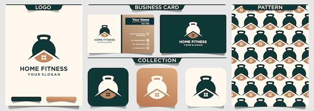 Modello di progettazione di logo di sport da casa