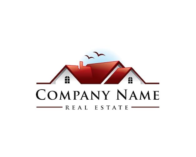 Home sunset real estate logo
