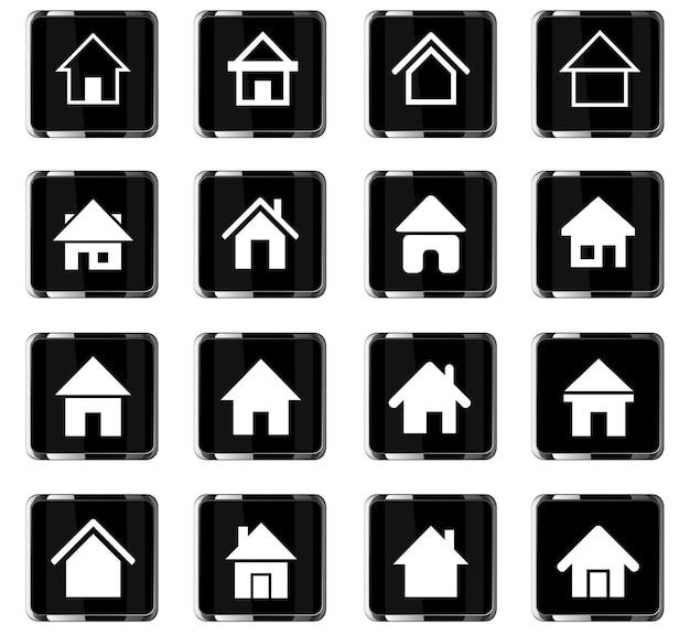 Icone web domestiche per la progettazione dell'interfaccia utente