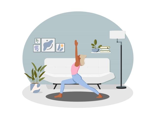 Sport di meditazione yoga a casa