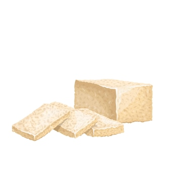 Tofu fatto in casa, farina di fave.