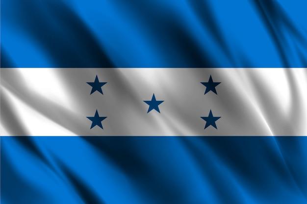 Bandiera dell'honduras che ondeggia fondo astratto