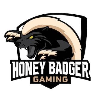 Honey badger esport gaming logo design