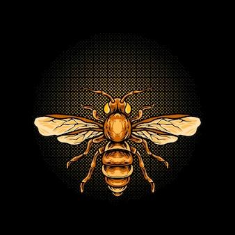 Illustrazione animale dell'ape del miele