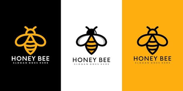 Logo degli animali dell'ape del miele