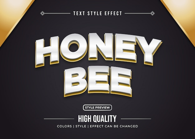 Honey bee text effect