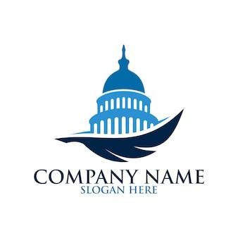 Modello di progettazione del logo a nido d'ape