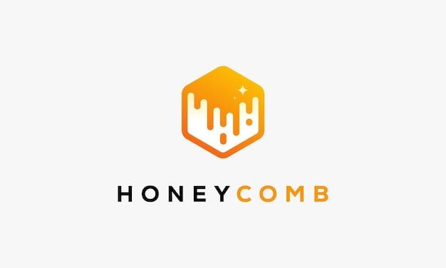 Logo honey comb.