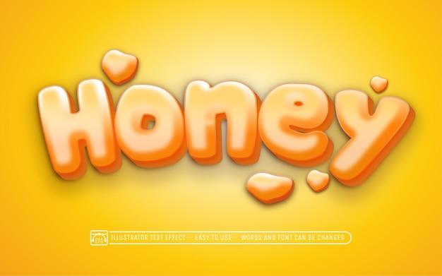 Stile carattere effetto testo modificabile miele