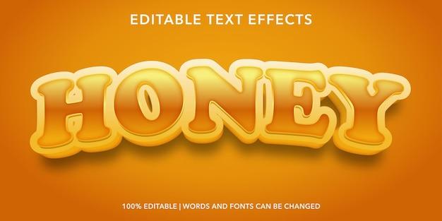 Effetto testo modificabile miele