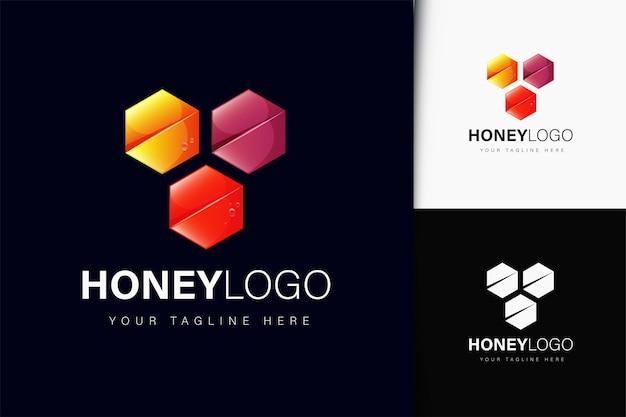Design del logo del miele con sfumatura