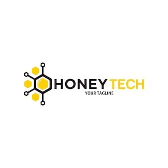 Modello di progettazione del logo della tecnologia del miele