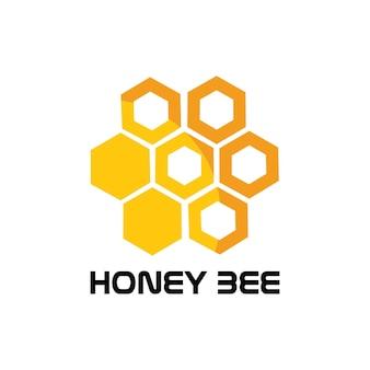Immagine vettoriale del logo animale dell'ape a nido d'ape