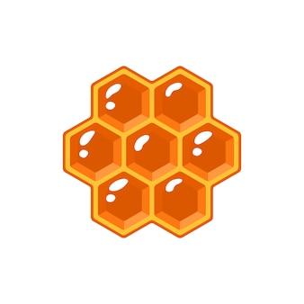 Illustrazione isolata a nido d'ape