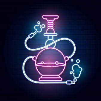 Narghilè illustrazione al neon