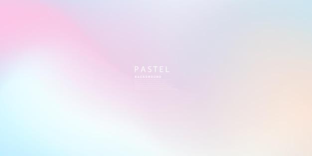 Disegno di sfondo ologramma astratto orizzontale colore pastello
