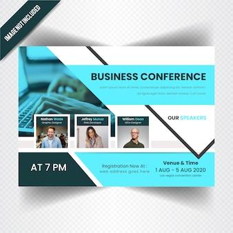 Banner orizzontale di business conferance web