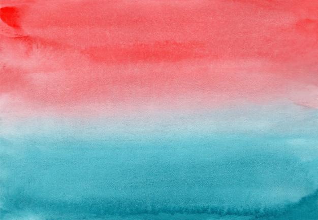 Acquerello blu e corallo sfumato orizzontale