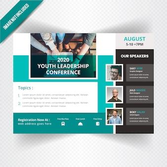 Banner orizzontale di conferenze della gioventù orizzontale