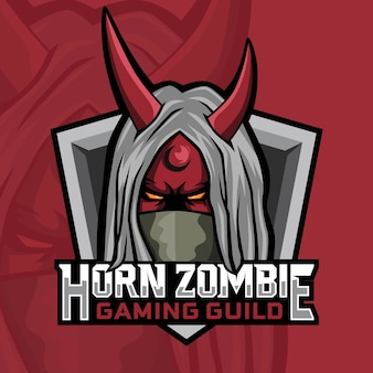 Corno zombie gaming logo design