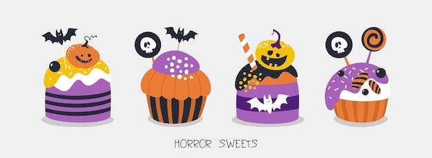 Dolci horror per la progettazione di poster di inviti per halloween