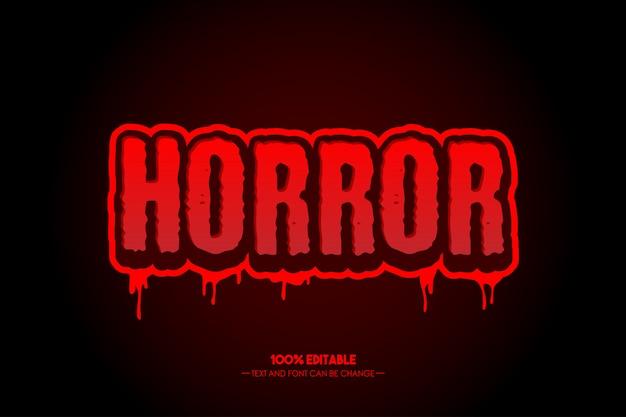 Stile di testo horror