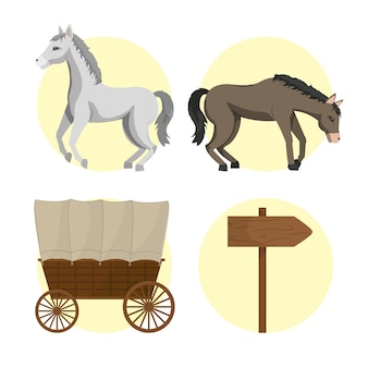 Cavallo e carrozze