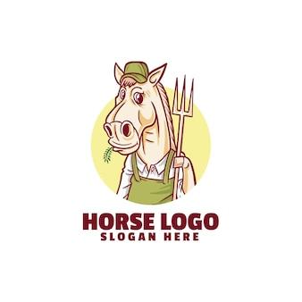 Logo di allevatore di cavalli isolato su bianco