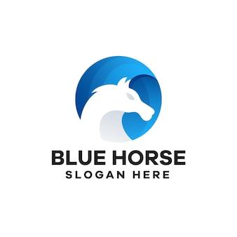Disegno del logo del gradiente del cavallo