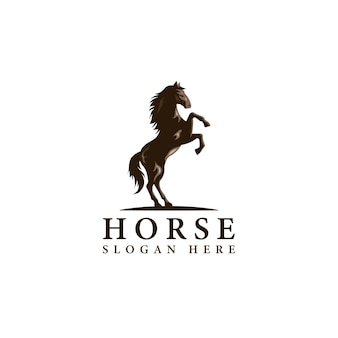 Immagine di cavallo in illustrazione vettoriale distintivo stile minimal classico